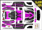 Pink Carbon GT themed vinyl SKIN Kit To Fit Traxxas Slash 4x4 Short Course Truck